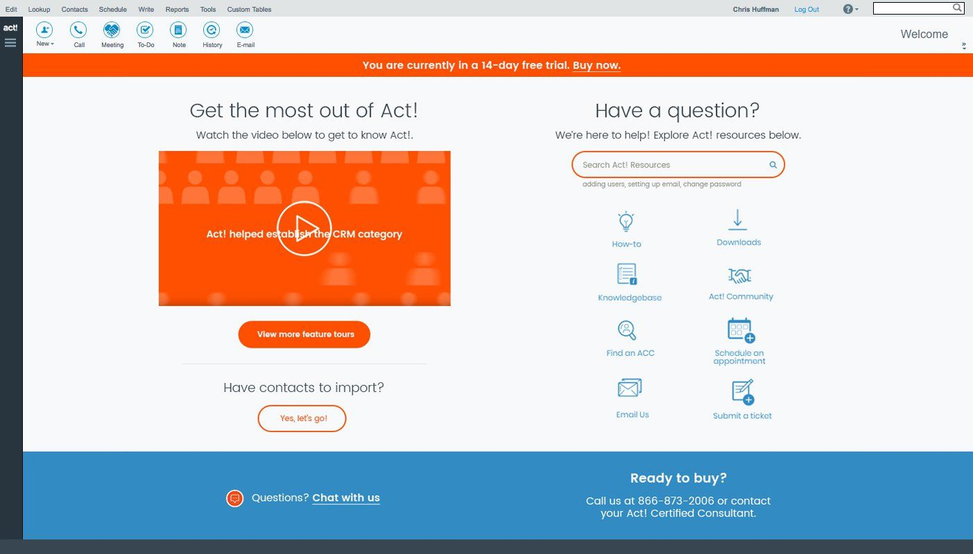 G2crowd : Act! screenshot