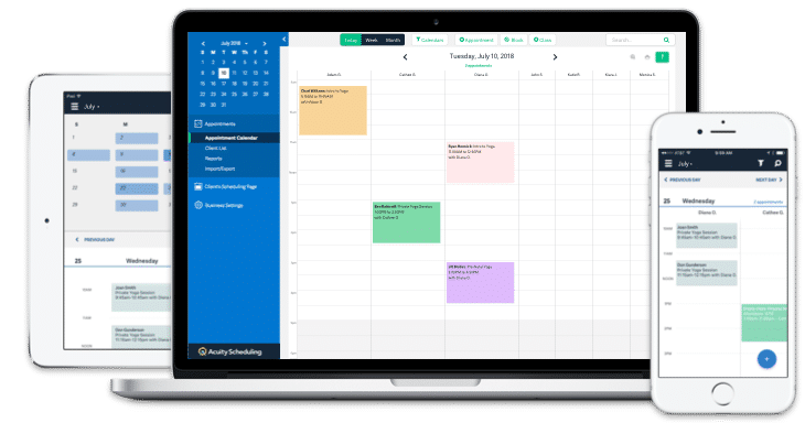 Acuity Scheduling screenshot: Access Acuity Scheduling across multiple devices