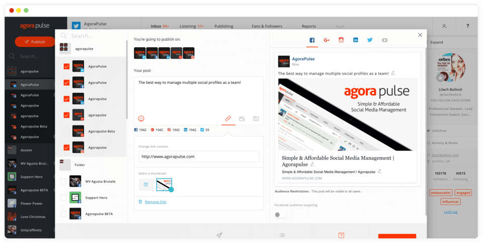 AgoraPulse Screenshots