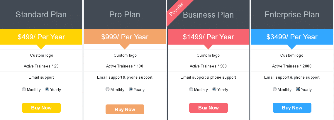 Aktiv Mind LMS Pricing