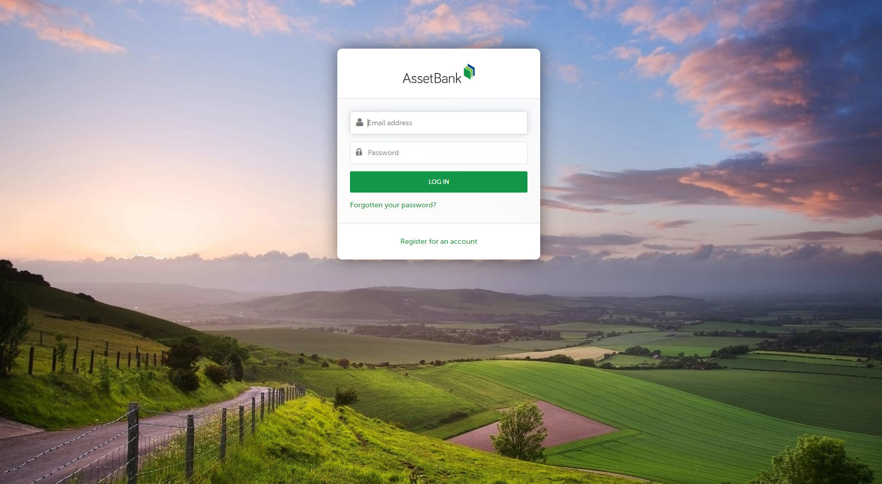 Asset Bank screenshot: Customisable Login page