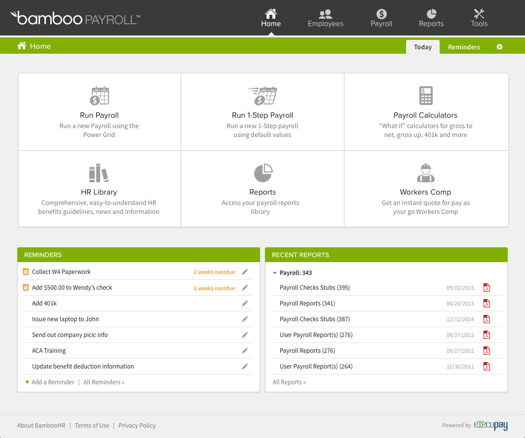 BambooHR screenshot