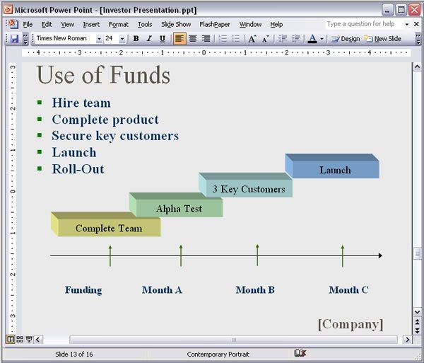 PowerPoint / Keynote Investor presentation Screenshot
