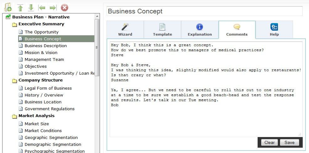 Business Concept Screenshot