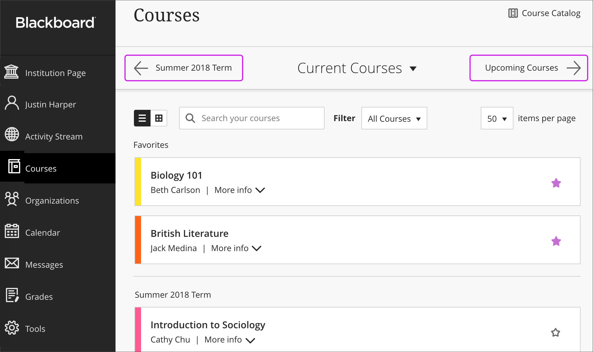 Blackboard Learn Screenshots