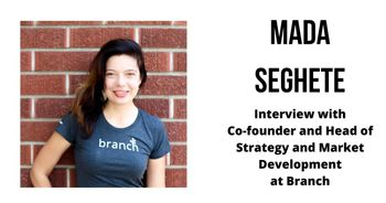 Interview with Mada Seghete, Co-founder and Head of Strategy and Market Development at Branch