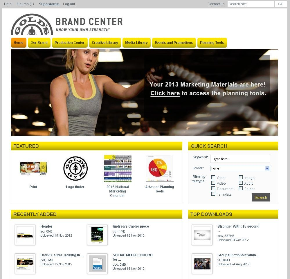 Brandworkz Demo - Gold's Gym