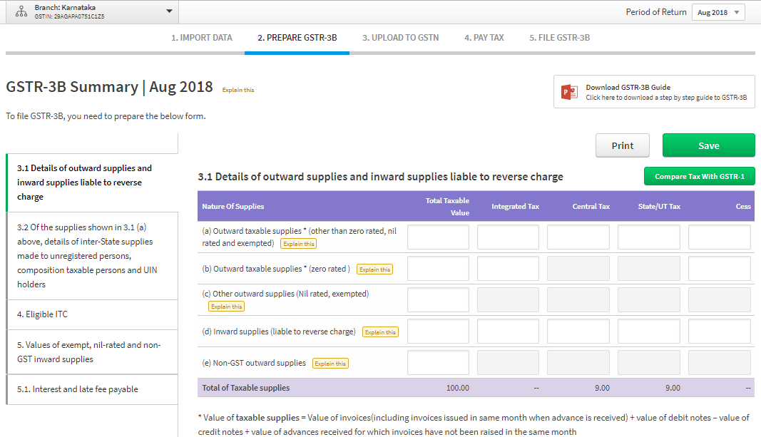 ClearTax GST Software Screenshots