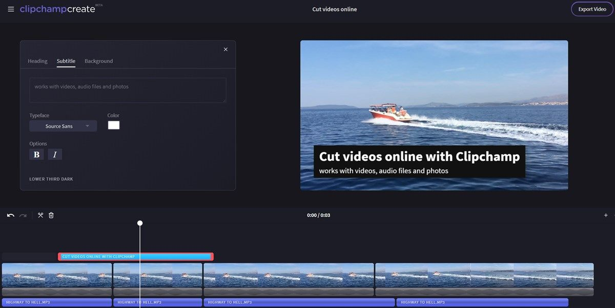 How to cut or split video files online - Clipchamp