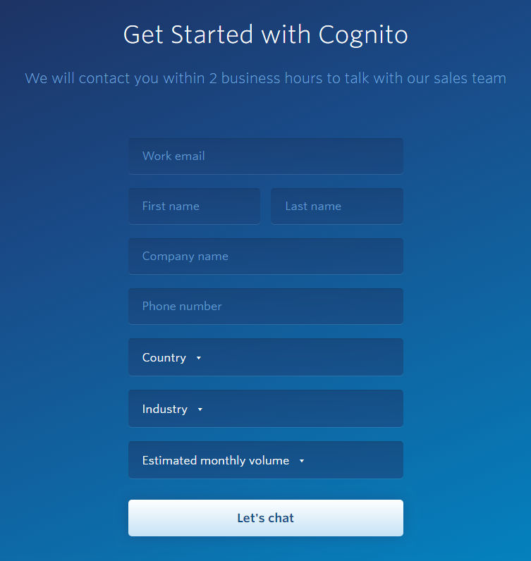 Cognito Pricing, Reviews and Features (June 2019