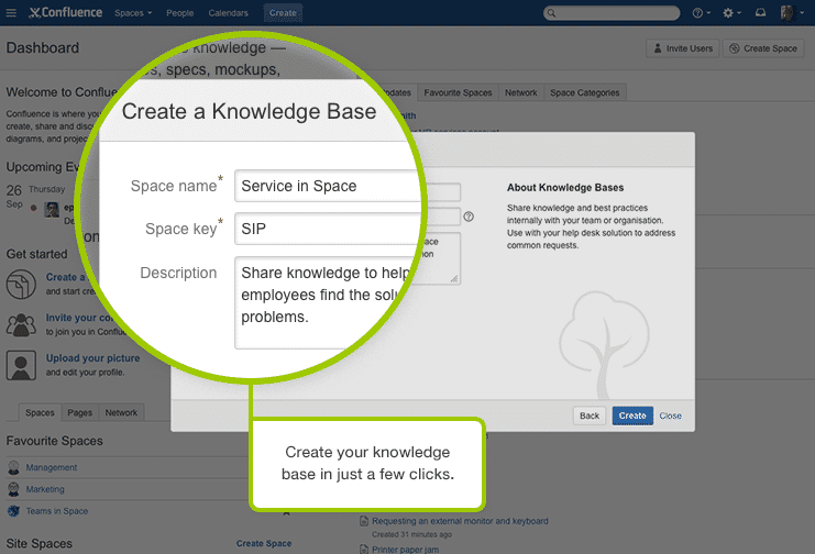 Confluence Demo - Create Knowledge Bases