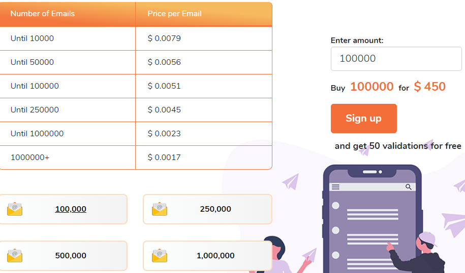 EmailVerifier Pricing