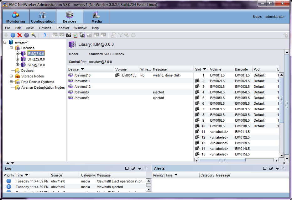 EMC NetWorker Screenshots