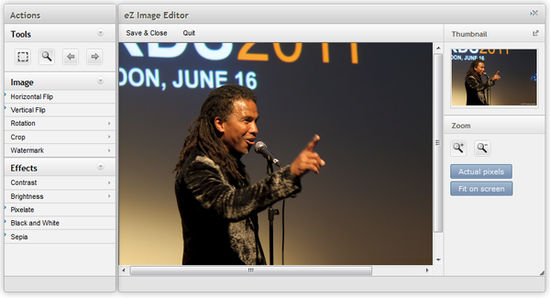 eZ Platform Enterprise Edition Demo - eZ Image Editor