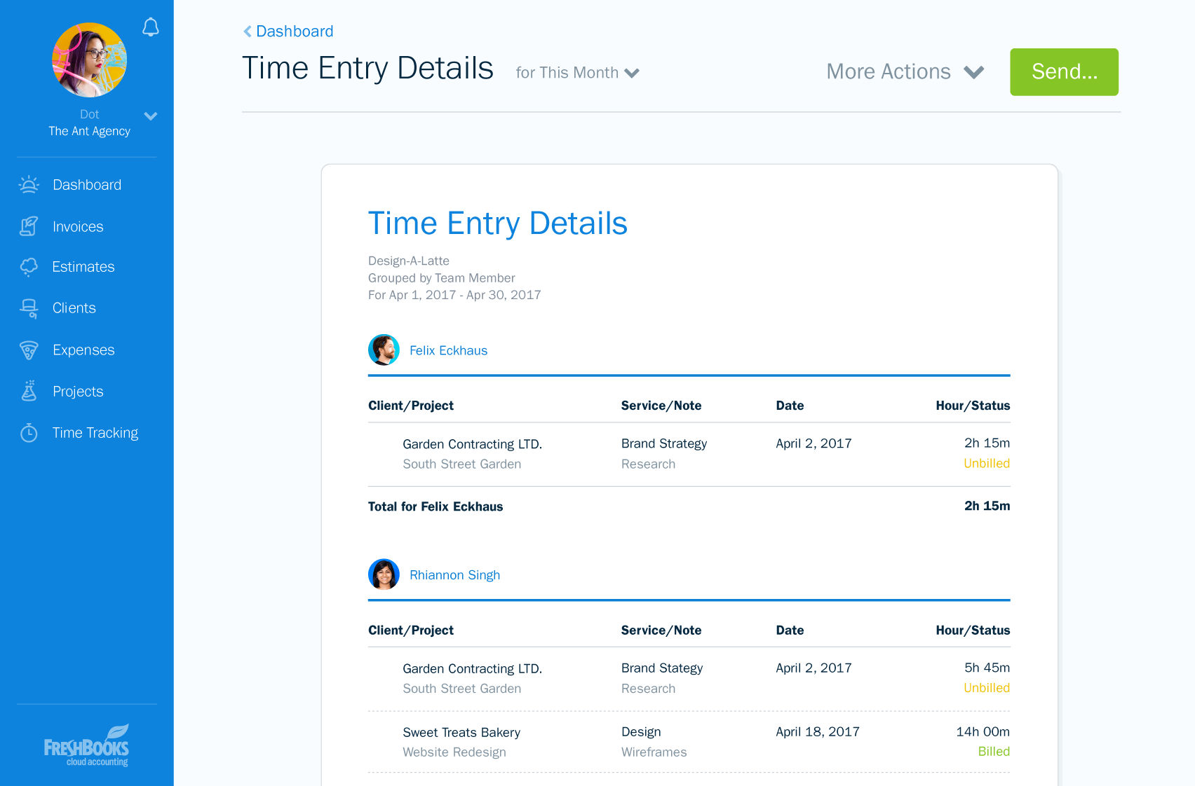 Freshbooks Screenshots