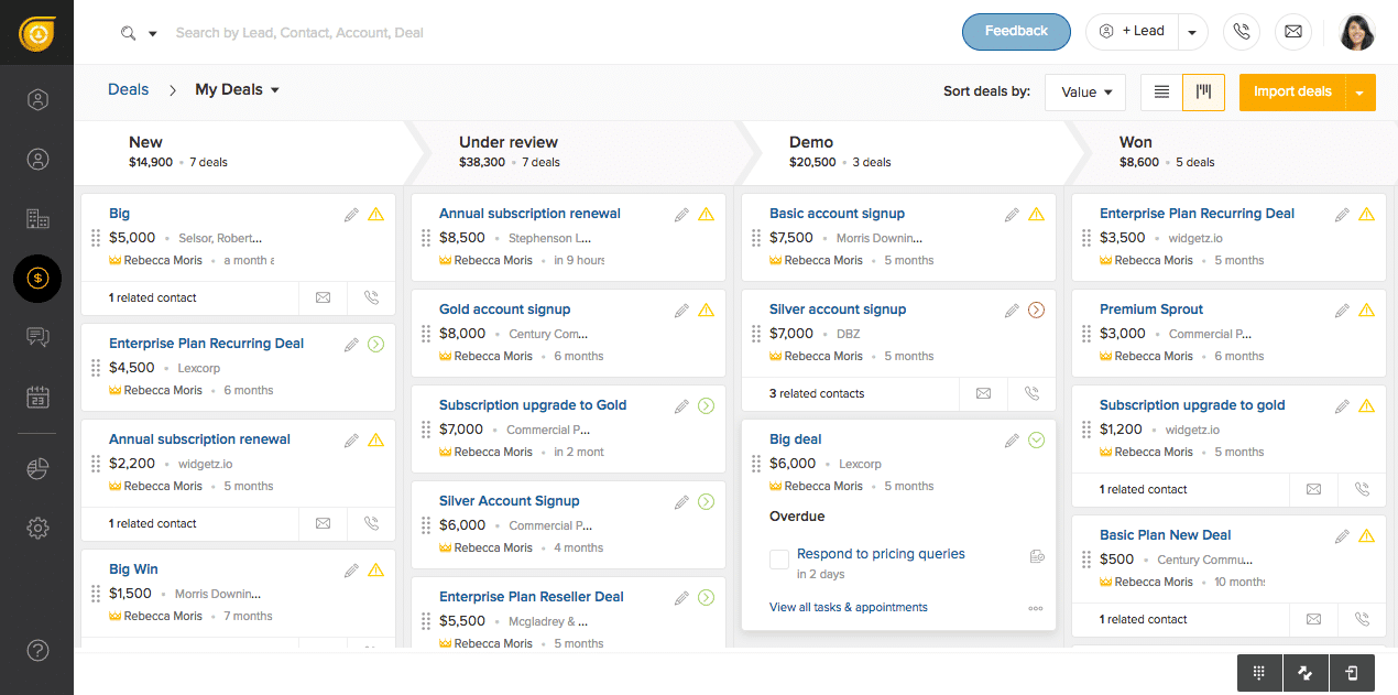 Freshworks CRM Screenshots