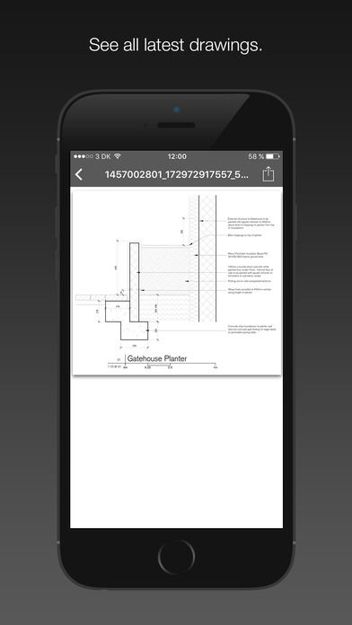 GenieBelt screenshot: View project drawings on the go