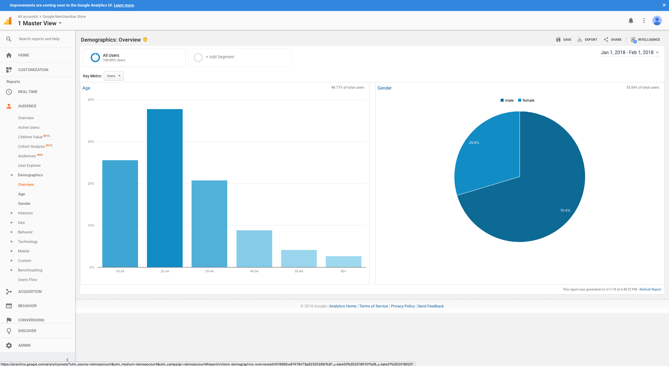 Google Analytics Demo - Analytics Demographics