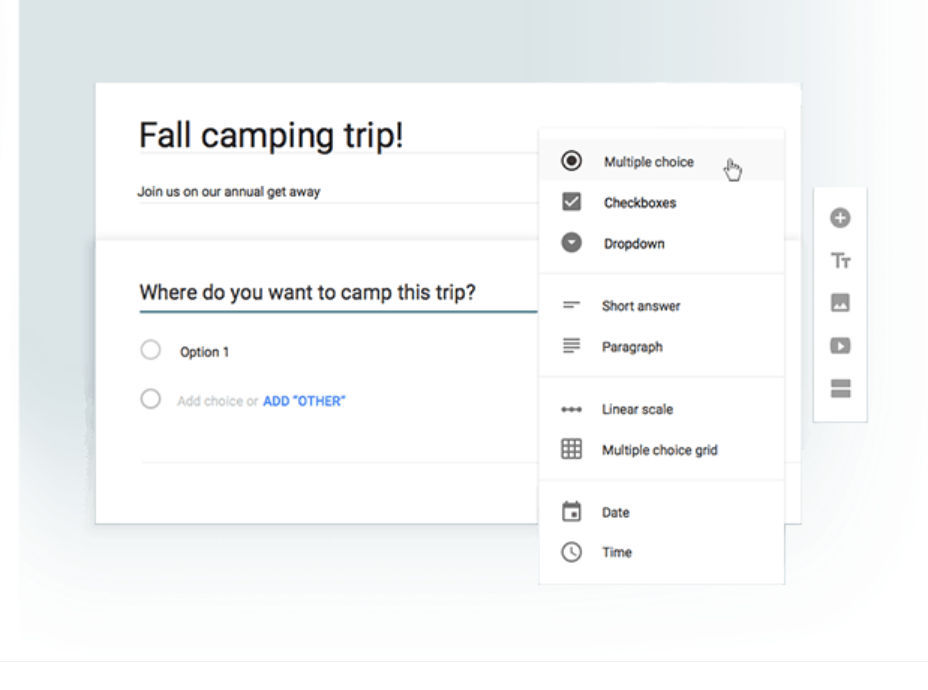 Google Forms Screenshots