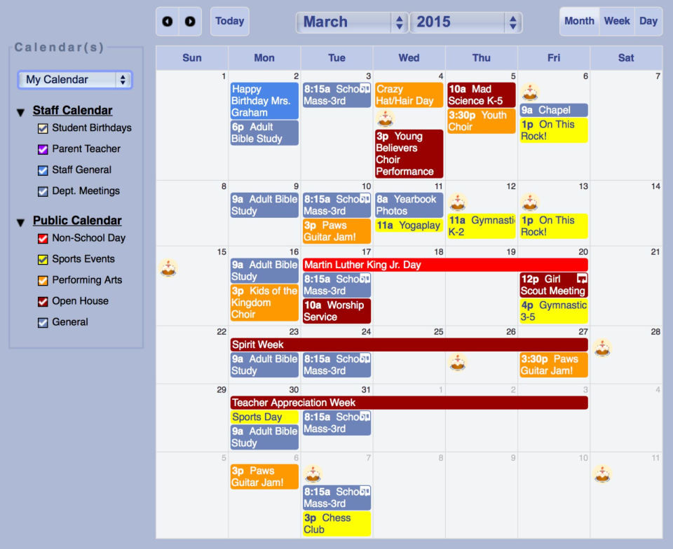 Capterra : Gradelink Calendar screenshot