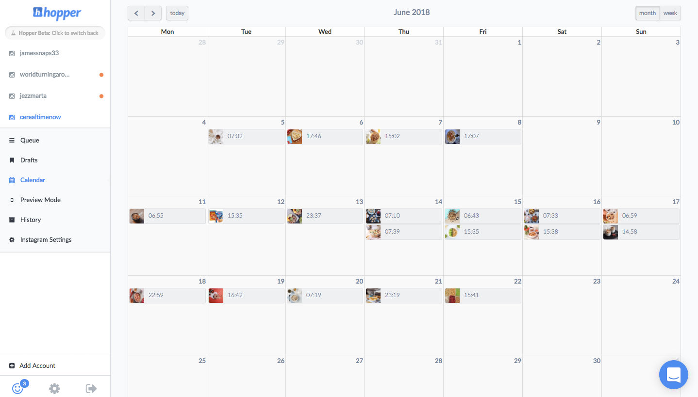 HopperHQ.com Demo - Calendar Planning