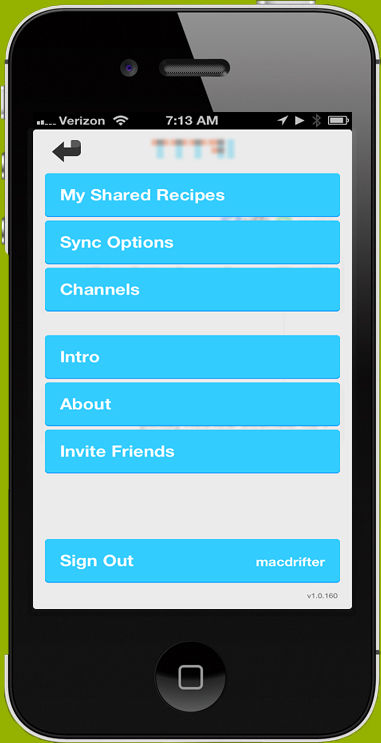 IFTTT screenshot: Navigate from the homepage