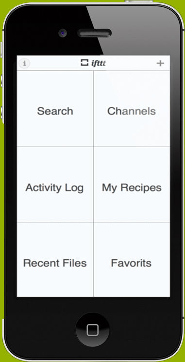 IFTTT screenshot: Access and navigate from the activity log