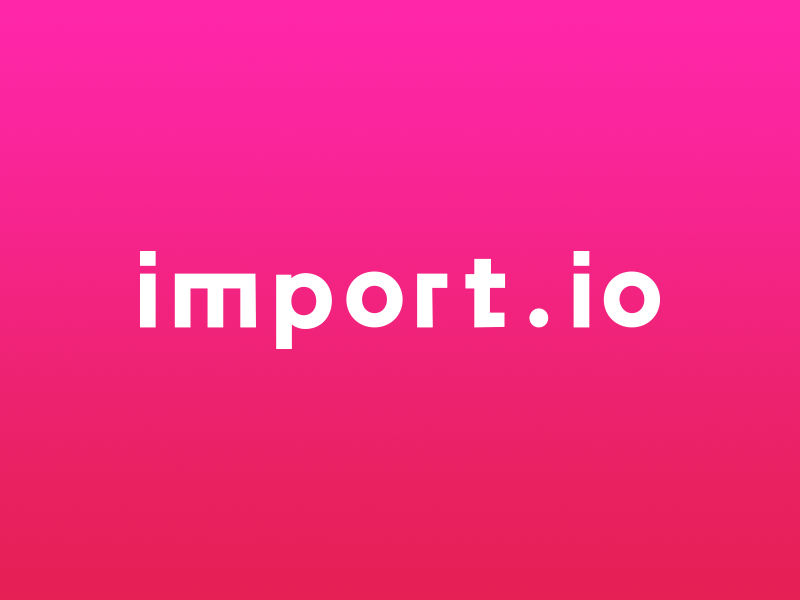 Import.io - Data Extraction Software : SaaSworthy.com