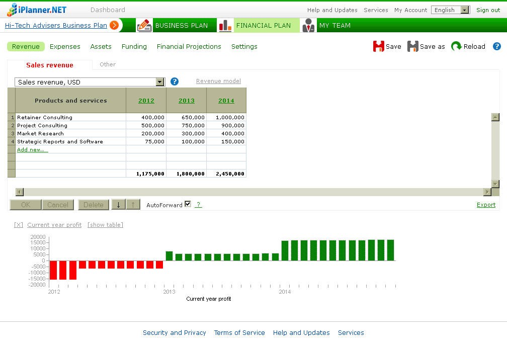 iPlanner.NET Screenshots
