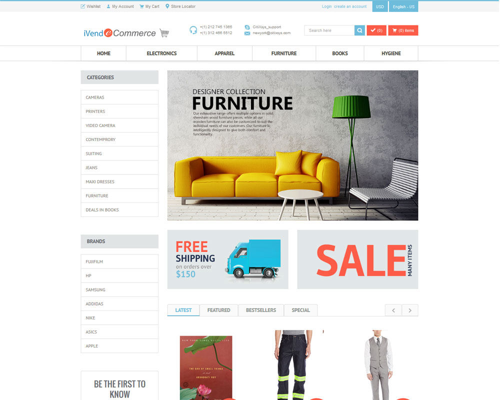 iVend Retail screenshot: iVend eCommerce features modern, fully customizable web design.