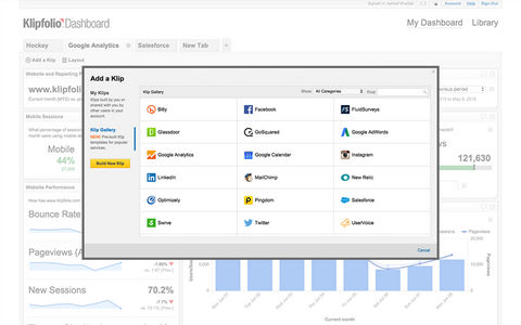 Klipfolio Dashboard Screenshots