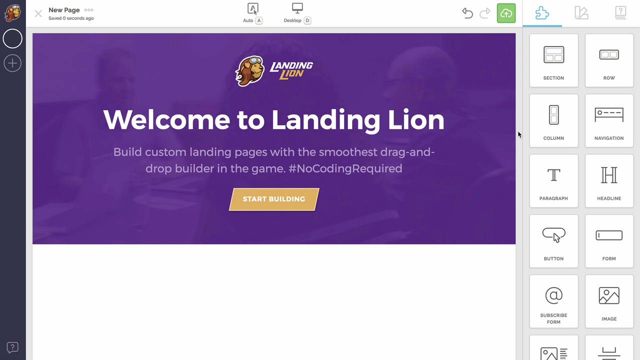 Landing Lion screenshot