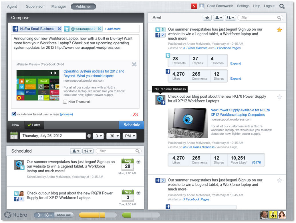Lithium screenshot: Social Publishing in Lithium
