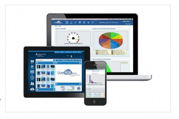 LivePOS screenshot: LivePOS is available on tablet, smartphone & desktop