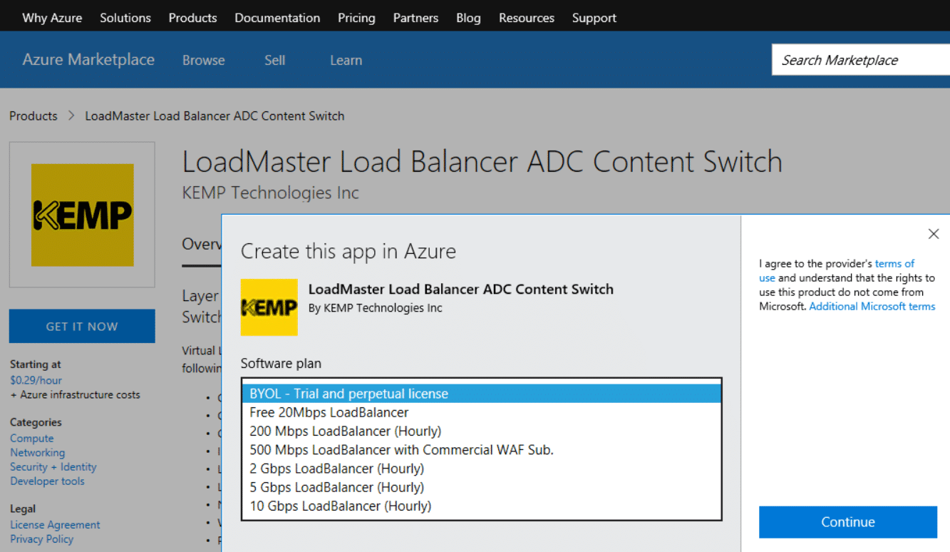 LoadMaster for Azure