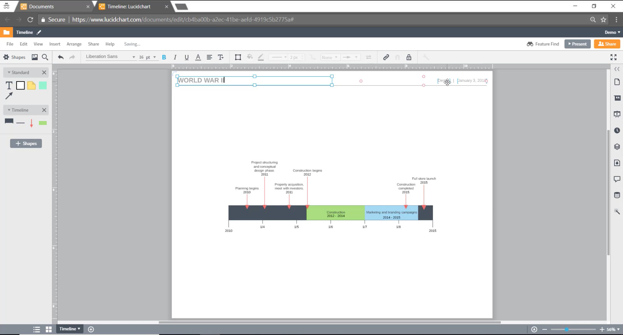 Lucidchart Features Reviews Pricing And Alternatives January 2019 How To Make A Circuit Diagram Screenshot Adapt Lucidcharts Timeline Template For Any Purpose