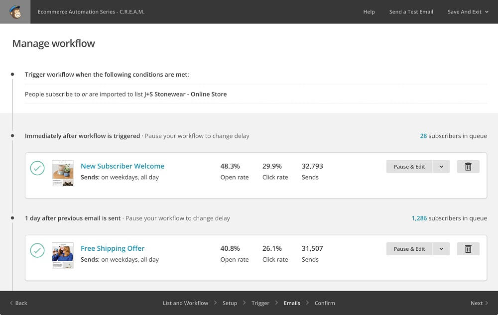 MailChimp Screenshots