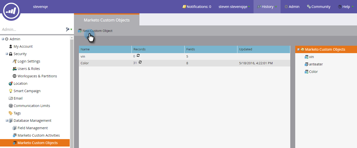 Marketo Screenshots
