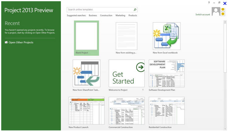 Microsoft Project screenshot: Microsoft Project - Project Management Tool