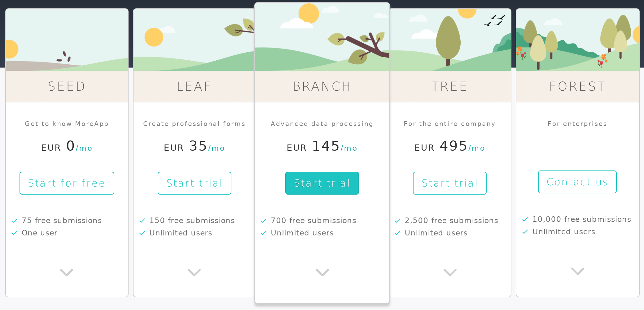 MoreApp Forms Pricing