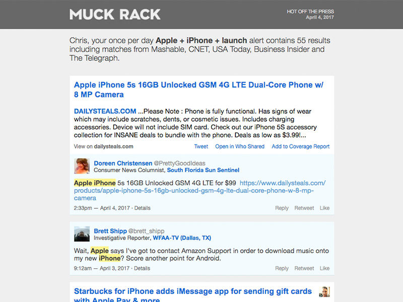 Muck Rack Screenshots