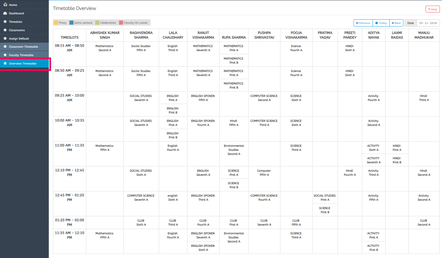 MyClassCampus :  Timetable Management screenshot