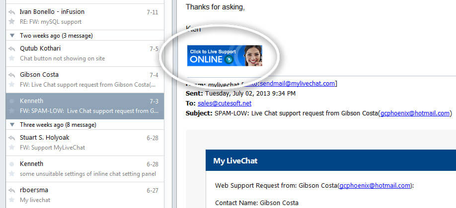 MyLiveChat Screenshots