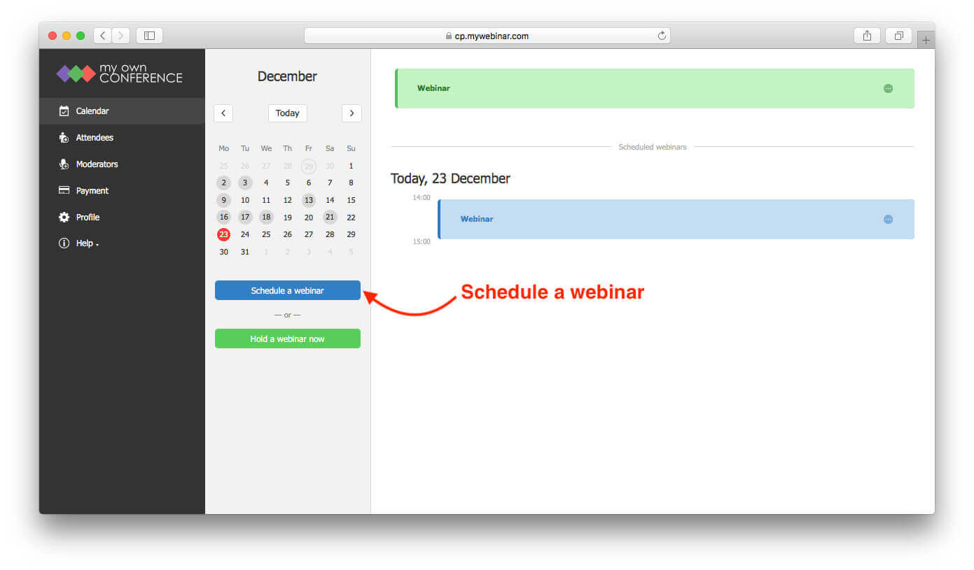 How to Create and Schedule a Webinar