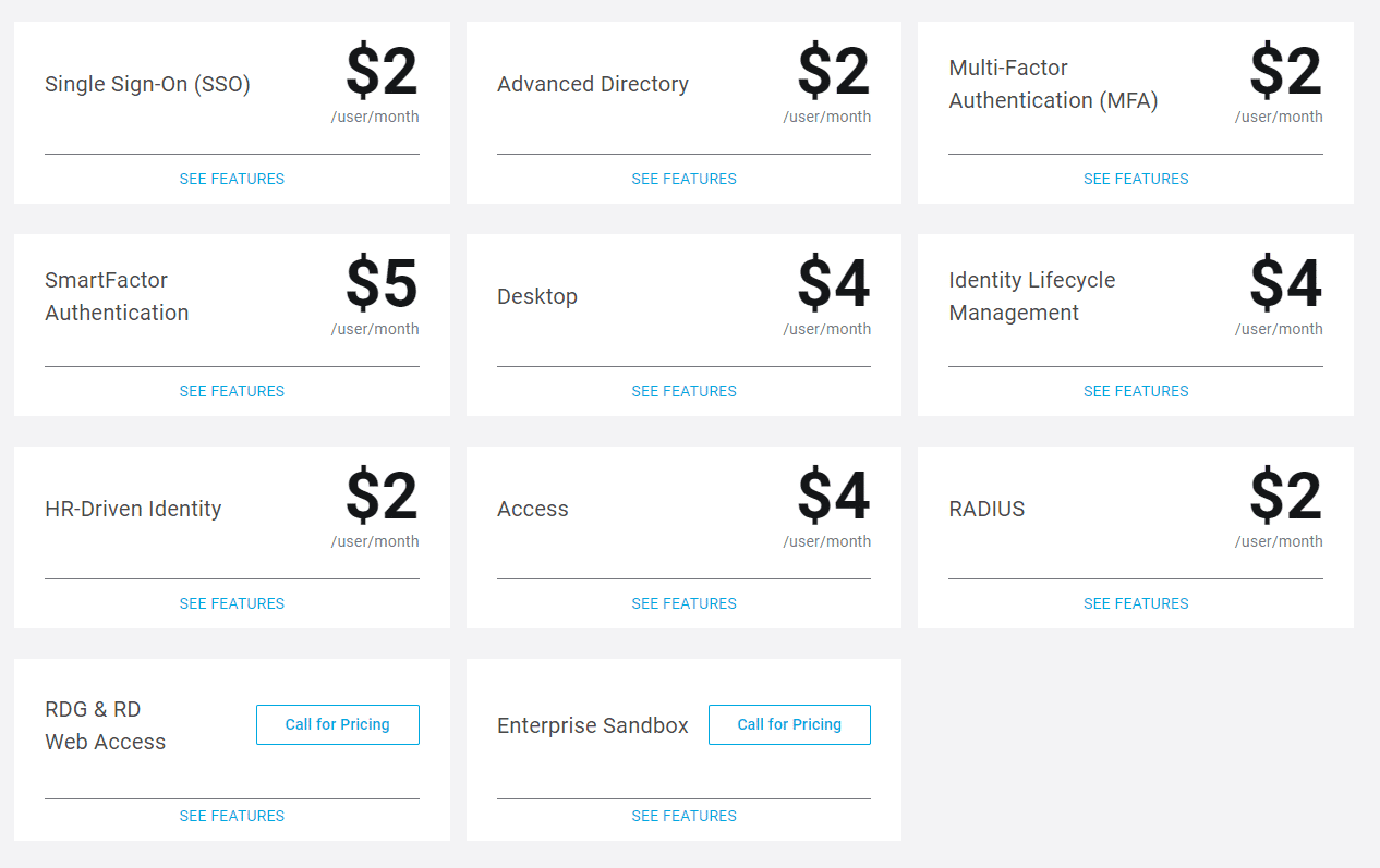 OneLogin Pricing