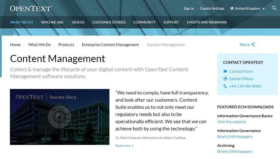 OpenText Screenshots