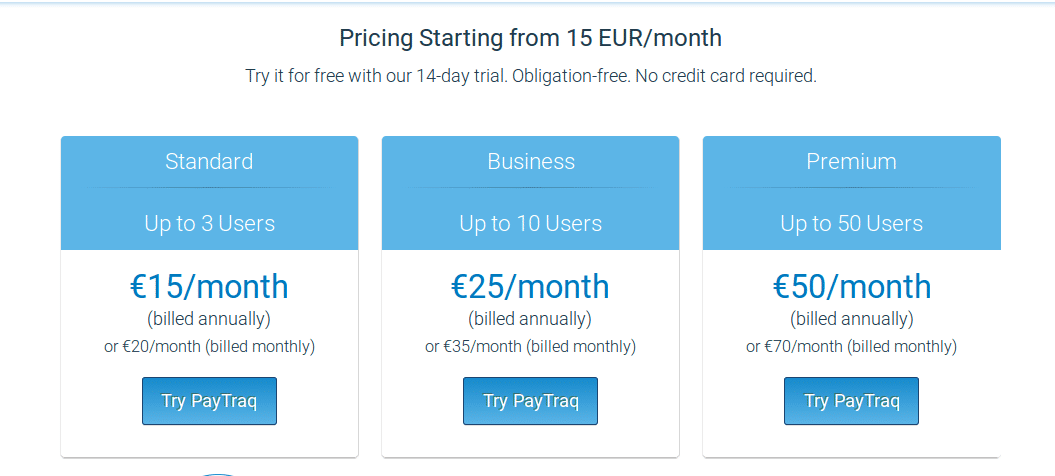 PayTraq Pricing