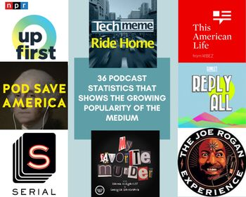 36 podcast statistics that shows the growing popularity of the medium
