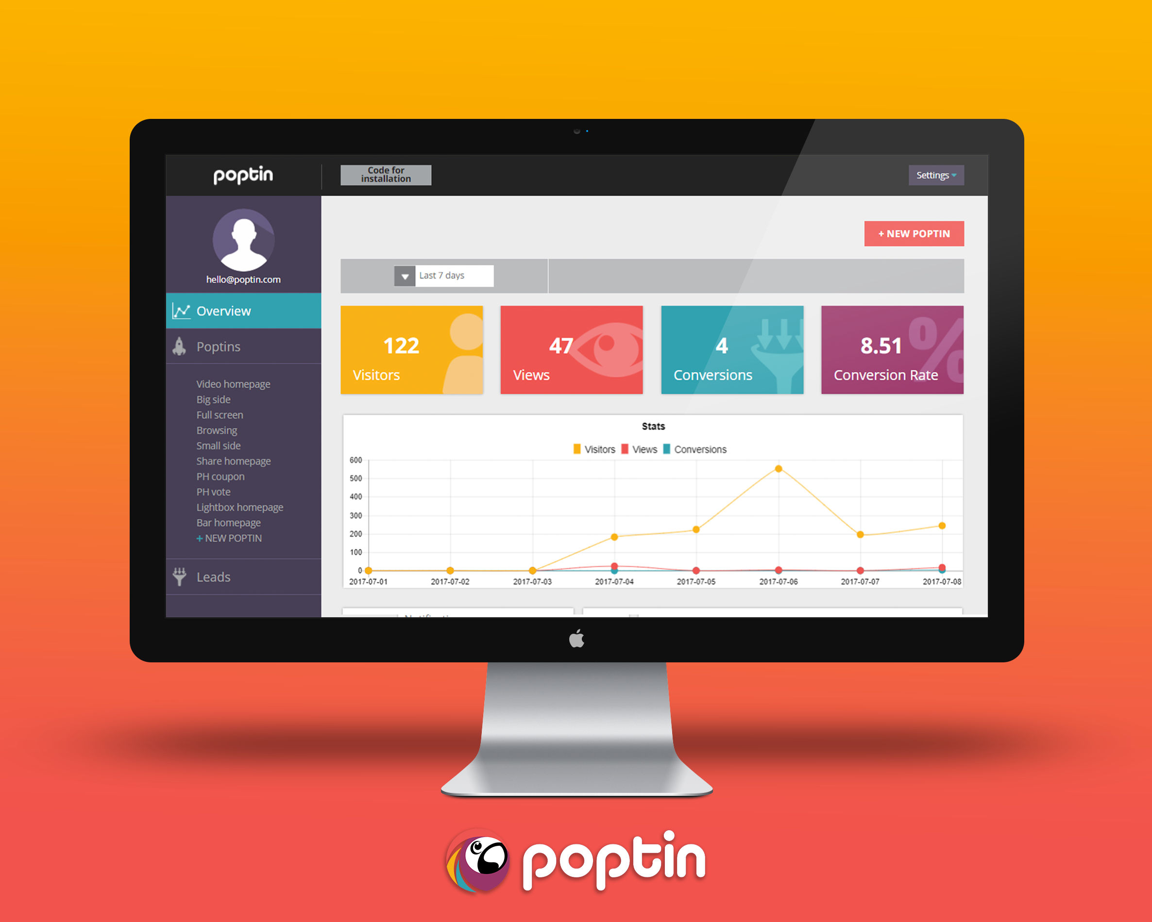Poptin screenshot