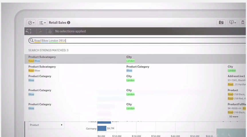 Qlik Sense screenshot: Qlik Sense Product